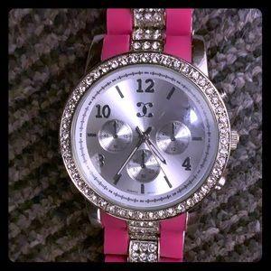 Ladies Charming Charlie Pink/Silver Watch